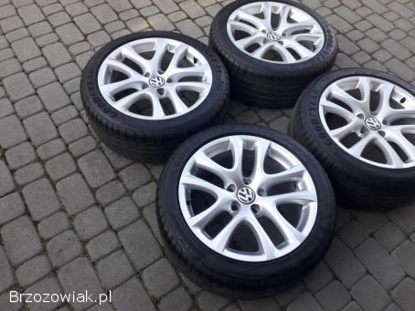 Komplet Prawie Nowych Kół Letnich VW 17 5x112 8mm bieżnika